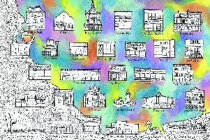 Crafts in The Tower returns to The Square Tower, Old Portsmouth on April 21, 2019.'Portsmouth Map by Kendal James.
