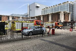 Fire crews joined paramedics in a training exercise at the former News office in Hilsea.