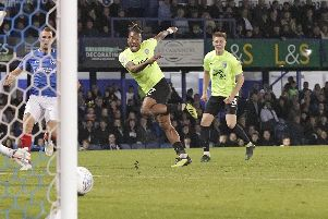 Ivan Toney fires home for Peterborough against Pompey