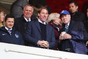 Eric Eisner, centre, with Andy Redman and Michael Eisner at the Stadium of Light Picture: Joe Pepler