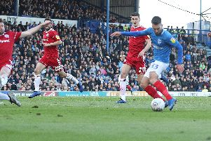 Ben Close nets Pompey's equaliser. Picture: Joe Pepler