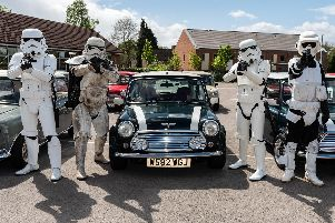 The UK Garrison of the 501st Legion of Stormtroopers with Minis. Picture: Vernon Nash (270419-015)