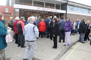 Families left living in darkness in five Gosport tower blocks met with housing group Hyde on Thursday, May 9 at St Mary's Church Hall in Gosport to air their grievances. Picture: Sarah Standing (090519-8798)