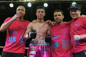 Lucas Ballingall, second left, with (from left) Michael Ballingall, Tony Oakey and Gavin Jones. Picture: Neil Marshall