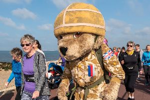 Tony Ryan, who runs for British charity Help for Heroes, was using Lee-on-the-Solent parkrun as a training session for the Paris 10k race.  Picture: Vernon Nash (110519- 23)