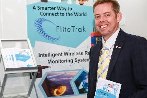 Andrew Barnett, who is joint managing director of FliteTrak. FliteTrak pioneers innovative smart technology, such as remote condition monitoring, machine learning and Artificial Intelligence