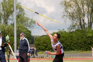 Jack Holt won the shot and the javelin at the Hampshire Championships. Picture: Duncan Shepherd