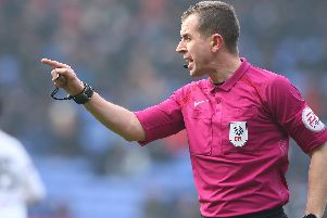 Referee Peter Bankes. Picture Stephen White/CameraSport