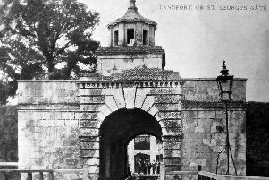 Landport Gate is the only gateway to the old town of Portsmouth still in its original location.