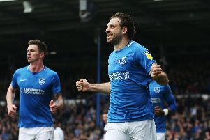 Brett Pitman returns to bolster Pompey's bid to reach the League One play-off final. Picture: Joe Pepler