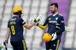 Liam Dawson, left, and James Vince, right, have been superb for Hampshire. Picture: Harry Trump/Getty Images