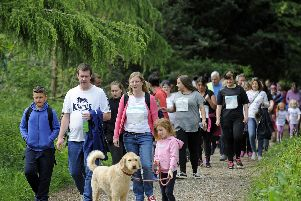 Friends and supporters take part in the Queen Alexandra Hospital ward walk at Staunton Country Park.'(l to r), ''Picture: Ian Hargreaves  (190519-11)