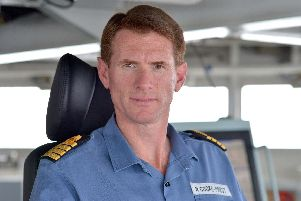 Captain Nick Cooke-Priest. Picture: Rowan Griffiths/Daily Mail/PA Wire