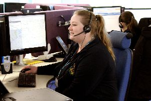 An NHS 111 call handler. Picture: Courtesy of NHS 111