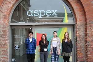 The Highbury College students at Aspex Gallery in Portsmouth
