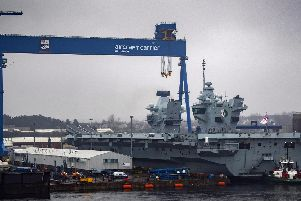 HMS Queen Elizabeth has been undergoing routine maintenance in Rosyth. Picture: CPO Tryon/ Royal Navy