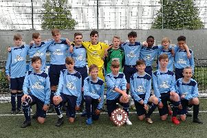 Gosport & Fareham under 13s won the district league
