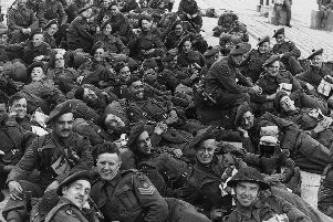 6th June 1944:  British soldiers of the RAMC (Royal Army Medical Corps) in France on D-Day.  (Photo by Keystone/Getty Images)