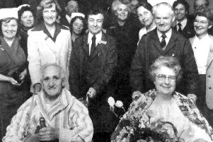 The first patients to be admitted to the Queen Alexandra Hospital, Cosham, were Archibald Longyear, of Southsea, and Edith Hacker, of Petersfield, with a bottle of champagne and flowers.