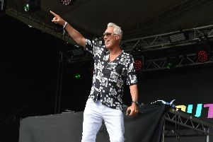 Martin Kemp during his DJ set at South Central Festival in Cosham. Picture: Eleanor Davies