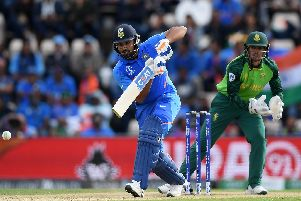 Rohit Sharma of India bats during the Group Stage match of the ICC Cricket World Cup 2019 between South Africa and India at the Ageas Bowl. Picture: Alex Davidson/Getty Images