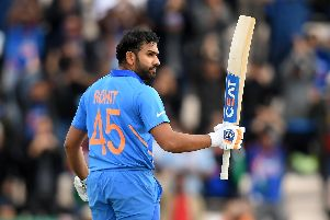 Inida's Rohit Sharma his century against South Africa at the Ageas Bowl. Picture: Alex Davidson/Getty Images