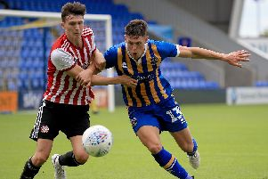 James Bolton, right, is reportedly poised to move to Pompey.