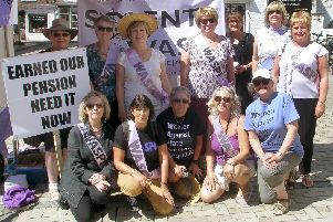 Part of the Solent Waspi group campaigning in London last year