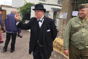 Winston Churchill re-enactor Steve McTigue