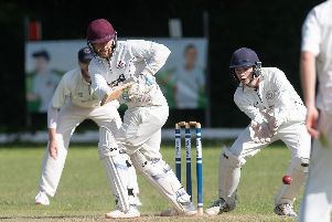 Jack Davies batting for Portsmouth & Southsea against Bashley on Saturday. Picture: Keith Woodland (080619-60)