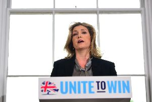 Defence Secretary Penny Mordaunt speaks during the launch of Foreign Secretary Jeremy Hunt's campaign in central London to become leader of the Conservative and Unionist Party and Prime Minister.