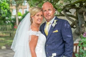 Tracy and Mick Maggs on their wedding day. Picture: Carla Mortimer Photography