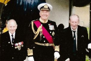 Admiral Alan West with former Arethusa boys.