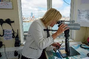 Caroline Dinenage visits the Coastwatch crew at NCI Gosport. Picture: Supplied