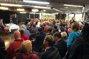 Fareham Borough Council leader Councillor Sean Woodward addressed residents at a special community meeting on drugs in the town centre.