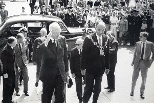 Dwight Eisenhower back in Portsmouth, August 6, 1963.