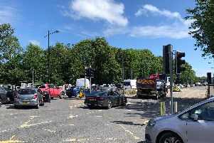 Traffic queueing in Havant after the burst water main on Hayling Island caused delays'Picture: Richard Lemmer