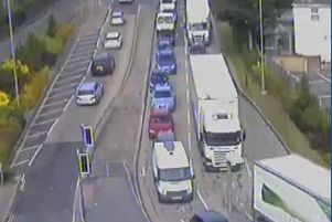 There are delays at at the A27/Quay Street Roundabout in Fareham as a stretch of the M27 is shut on June 15 for demolition work to a bridge. Picture: ROMANSE
