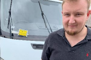 Unhappy Sam Kiellor, 26, was hit with an 80 parking ticket after leaving his van in Ferry Road to get the Hayling Ferry in a rush to pick up his four-year-old daughter Hollie when Havant Road was shut on June 14 causing traffic chaos. Picture: Sam Kiellor