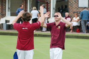 Paul Cooke, right, led his rink to a big win for Southsea Waverley. Picture: Rob Atkins