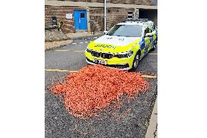 The 'three miles' of orange twine picked up by Sussex Police. Picture: Sgt Richard Hobbs
