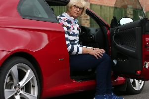Patricia Williams with her Alfa Romeo Picture: Chris Moorhouse (120619-35)