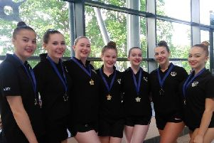 This is the age 15 to 18 team from Portsmouth and District Synchro Club. They impressed to win gold medals at the South East Regional Synchro Competition at K2 Crawley