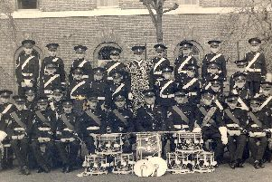 The Royal Marine Cadet Fife and Drum Band, Eastney Barracks, 1950. Picture: Michael Harris
