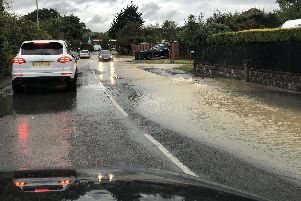 Portsmouth Water picture - flooding in Havant Road, Hayling on June 14, 2019