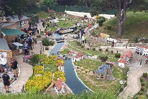 Southsea Model Village, where Groundlings will be performing Dylan Thomas's Under Milk Wood on June 27, 2019, to celebrate a new model of the The Groundlings Theatre being installed at the village. Picture: Chris Broom