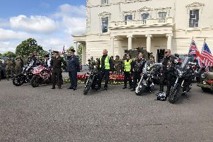 The D-Day 75 convoy group gathers at Southwick House before setting out to recreate the journey that Eisenhower took on June 5, 1944.
