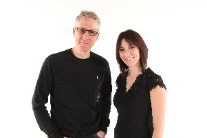 Alun Newman and Lou Hannan who present BBC Radio Solent's mind morning show