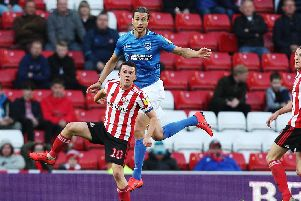 Pompey's most recent visit to the Stadium of Light was in May for the play-off semi-final first leg. Picture: Joe Pepler