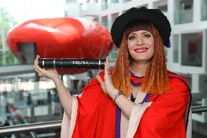 Ana Matronic from Scissor Sisters has been given an honorary doctorate by Solent University. Picture: Solent University